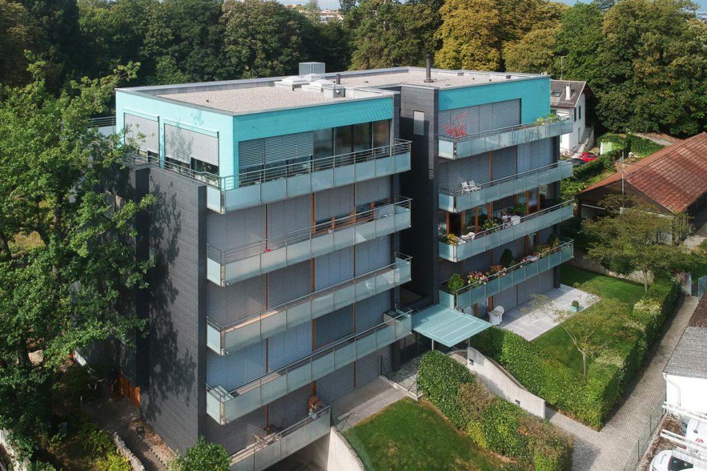 Vue aérienne immeuble Genève