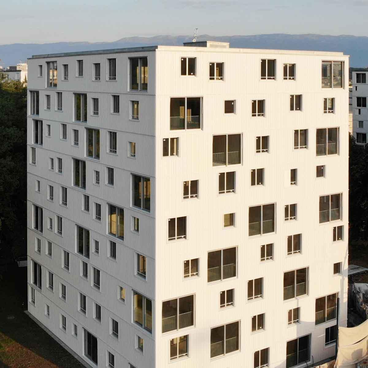 Vue aérienne immeuble Carouge