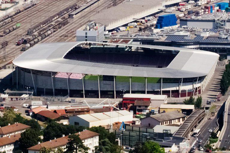 Vue aérienne du stade de Genève