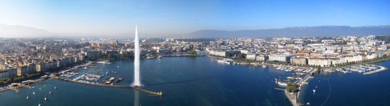 Photo panoramique rade de Genève